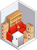 Box self-stockage en location - format studio